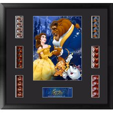 Beauty and the Beast Montage FilmCell Presentation Framed Vintage Advertisement