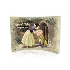 Snow White and the 7 Dwarfs (Dopey Kiss) Vintage Advertisement Plaque