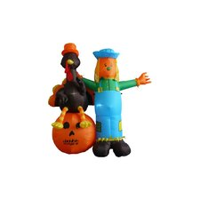 6' Thanksgiving Inflatable Scarecrow