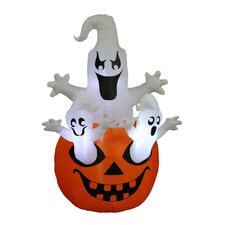 Halloween Inflatable Pumpkin with Ghost