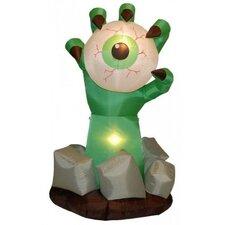 Halloween Inflatable Monster Hand with Eyeball Decoration