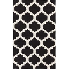 York Black Geometric Harlow Area Rug