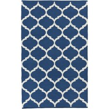 Vogue Blue Geometric Everly Area Rug
