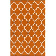Vogue Orange Geometric Claire Area Rug
