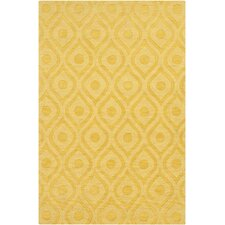 Central Park Yellow Geometric Zara Area Rug