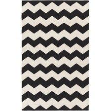 Vogue Black Chevron Collins Area Rug