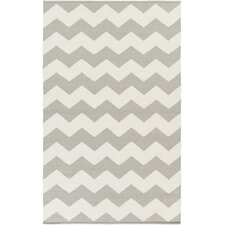Vogue Grey Chevron Collins Area Rug