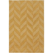 Central Park Yellow Chevron Carrie Area Rug