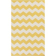 Vogue Gold Chevron Collins Area Rug