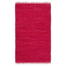 Easy Home Red Solid Delaney Area Rug