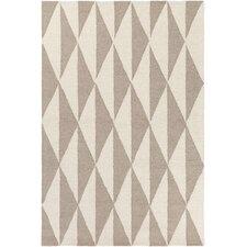 Hilda Sonja Hand-Crafted Gray/Light Gray Area Rug