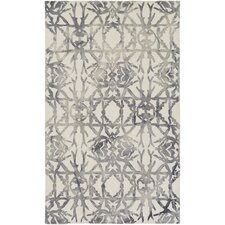 Organic Avery Hand-Tufted Ash Gray/Off-White Area Rug