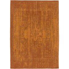 Elegant Maya Hand-Woven Orange Area Rug