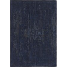 Elegant Maya Hand-Woven Navy/Gray Area Rug