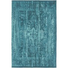 Elegant Maya Hand-Woven Teal Area Rug