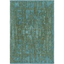Elegant Maya Hand-Woven Green/Teal Area Rug