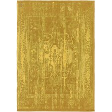 Elegant Maya Hand-Woven Gold Area Rug