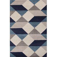 En Casa Gray/Blue Geometric Area Rug