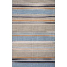 Pura Vida Blue/Orange Stripe Area Rug