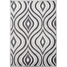 Fables Bright White & Gray Violet Area Rug