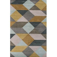 En Casa Gray & Yellow Geometric Area Rug