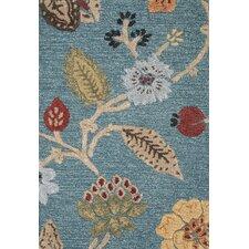 Blue Blue/Red Floral Area Rug