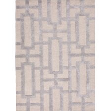 City Silver Gray Geometric Area Rug