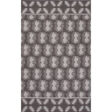 Traditions Made Modern Flat Weave Cotton Gray/Ivory Area Rug
