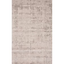 Clayton Wool and Art Hand Tufted Silk Gray Area Rug