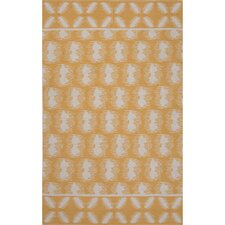Traditions Made Modern Cotton Flat Weave Yellows/Ivory Area Rug