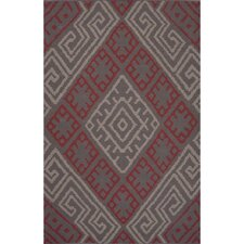 Traditions Made Modern Cotton Flat Weave Pink/Ivory Area Rug