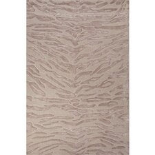 National Geographic Home Wool and Viscose Hand Tufted Ivory/White Tiger Area Rug
