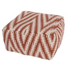 Cadiz Geometric Cotton Pouf Ottoman