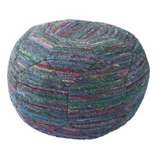National Geographic Solid Rayon and Polyester Pouf Ottoman