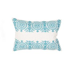 Floral Cotton Lumbar Pillow