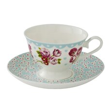 Vintage Kitchen 14cm Bone China Cup and Saucer