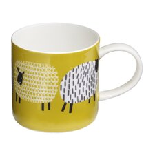 Dotty Sheep Straight Sided Mug