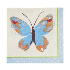 Butterflies Cocktail Napkin (Set of 20)