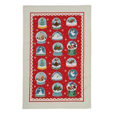 Snow Globes Tea Towel