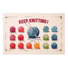 Keep Knitting Tea Towel