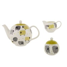 Dotty Sheep 3 Piece Bone China Tea Set