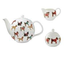Hound Dog 3 Piece Bone China Tea Set
