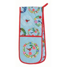 Frosty Garland Double Oven Glove