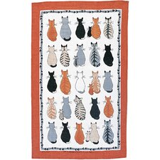Cats in Waiting Tea Towel