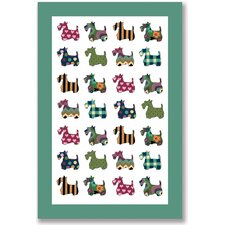 Scottie Patterns Tea Towel