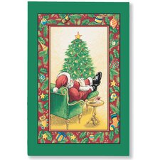 Sleeping Santa Tea Towel