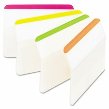 Durable tabs, 2w x 1 1/2h, assorted fluorescent, 24/pack (Set of 2)