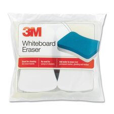 "Whiteboard Eraser Pads, 5""x3"", 2 per Pack, White/Yellow"
