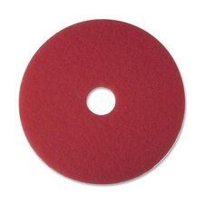 "Buffer Pad, Removes Scuff Marks, 16"", 5/CT, Red"