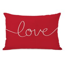 "Holiday ""Love"" Mix and Match Lumbar Pillow"